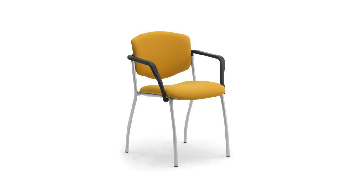 sedie per sala corsi convegni e congressi, sedute ignifughe per conferenze con ribaltina - Leyform
