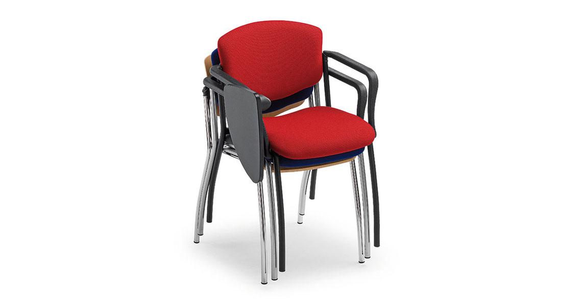 Sedie per sala corsi convegni e congressi con ribaltina for Sedie richiudibili