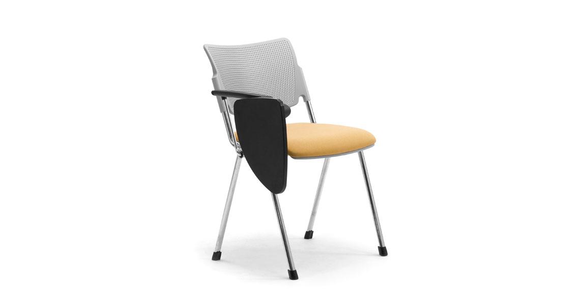 Sedie per sala polivalente e didattica con scrittoio - Leyform