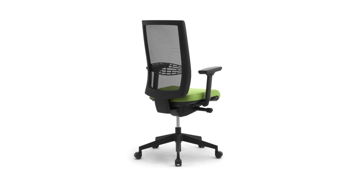 sedie e poltrone per ufficio con schienale in rete leyform