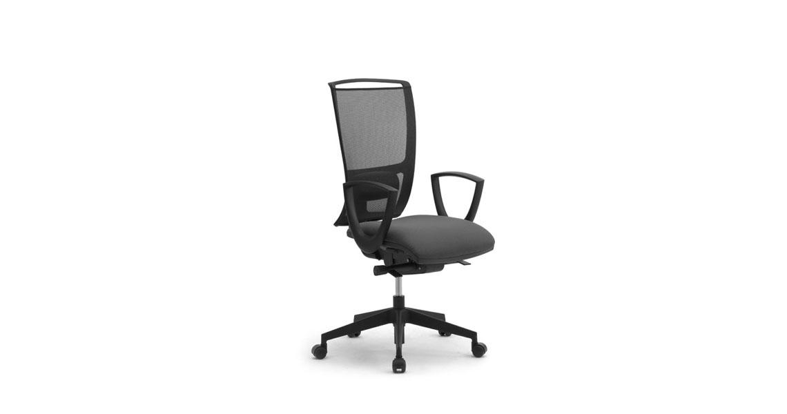 Sedie e sedute ergonomiche per ufficio coworking con rete - Sedie e poltrone ufficio ...