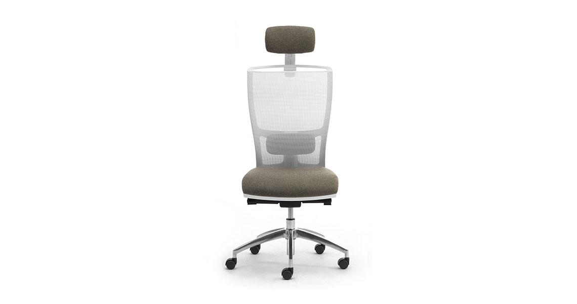 Sedia per ufficio bianca dal design modeno e minimale for Mondo convenienza arredo ufficio
