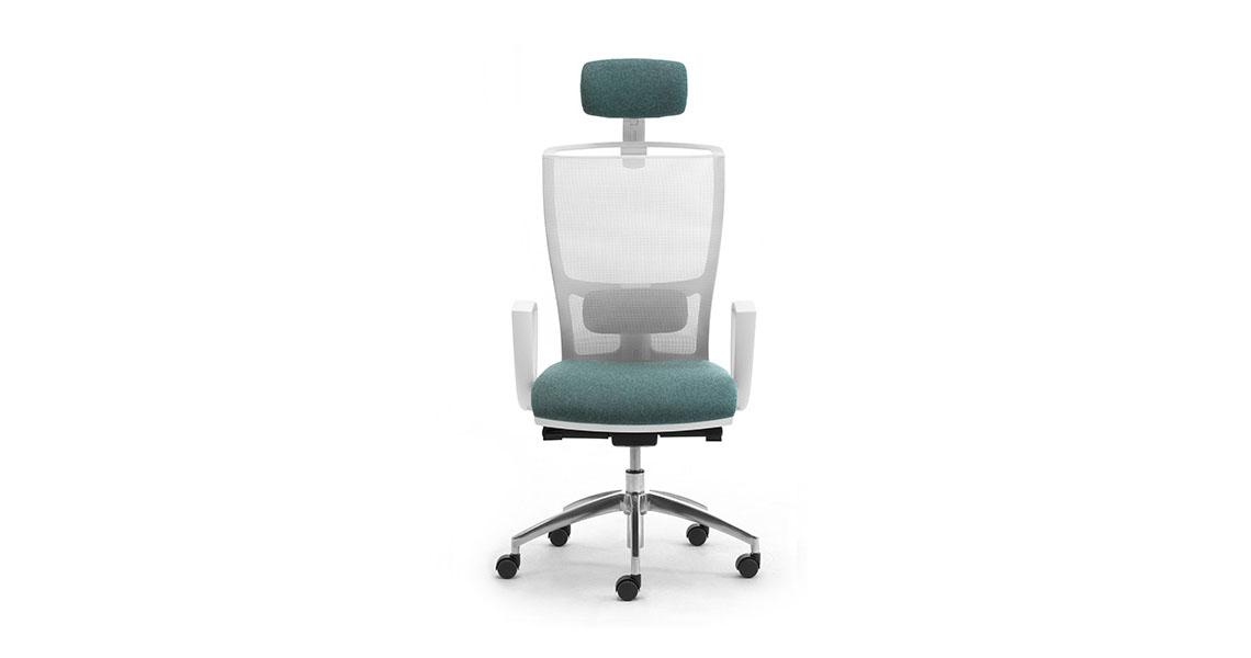 Sedia per ufficio bianca dal design modeno e minimale for Sedia design bianca