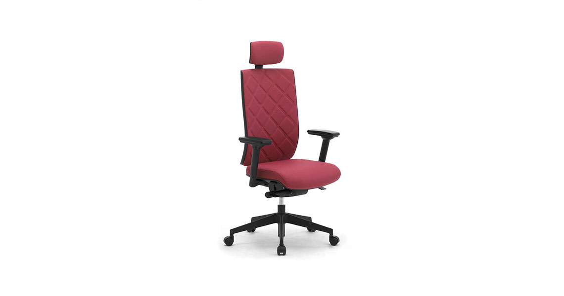Sedia per ufficio trapuntata dal design moderno leyform