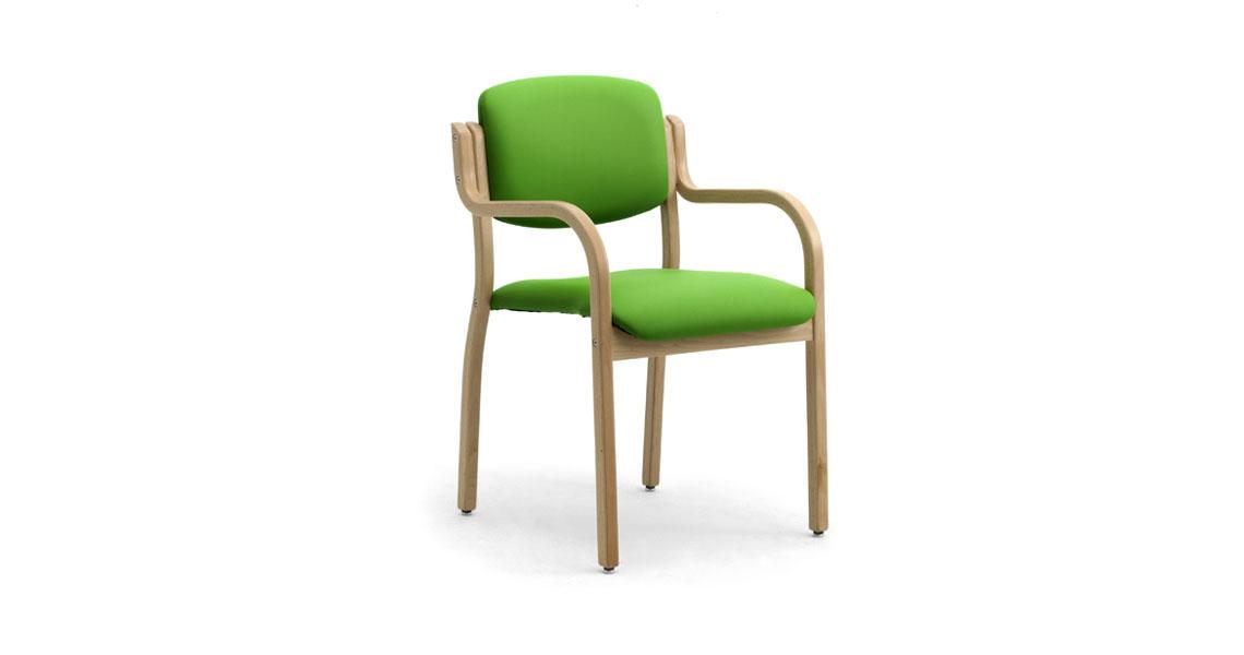 Sedia in legno impilabili per albergo hotel e case di for Sedie design legno naturale