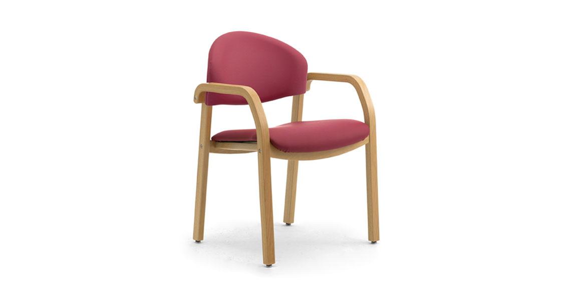 Sedie in legno per sale da pranzo case di riposo e di cura - Leyform