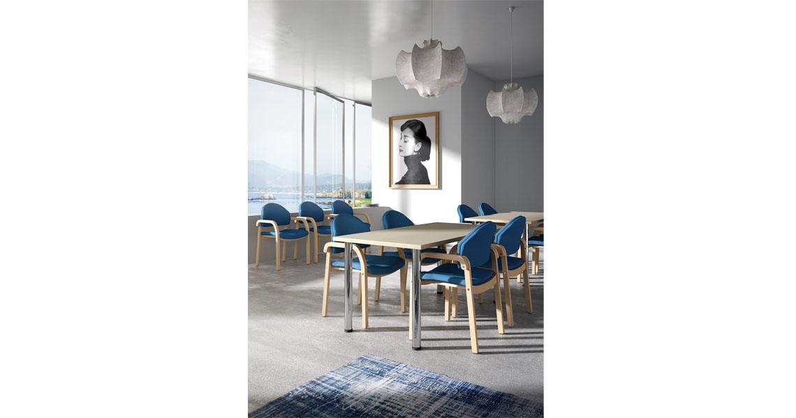 Sedie in legno per sale da pranzo case di riposo e di cura for Sedie sala pranzo legno