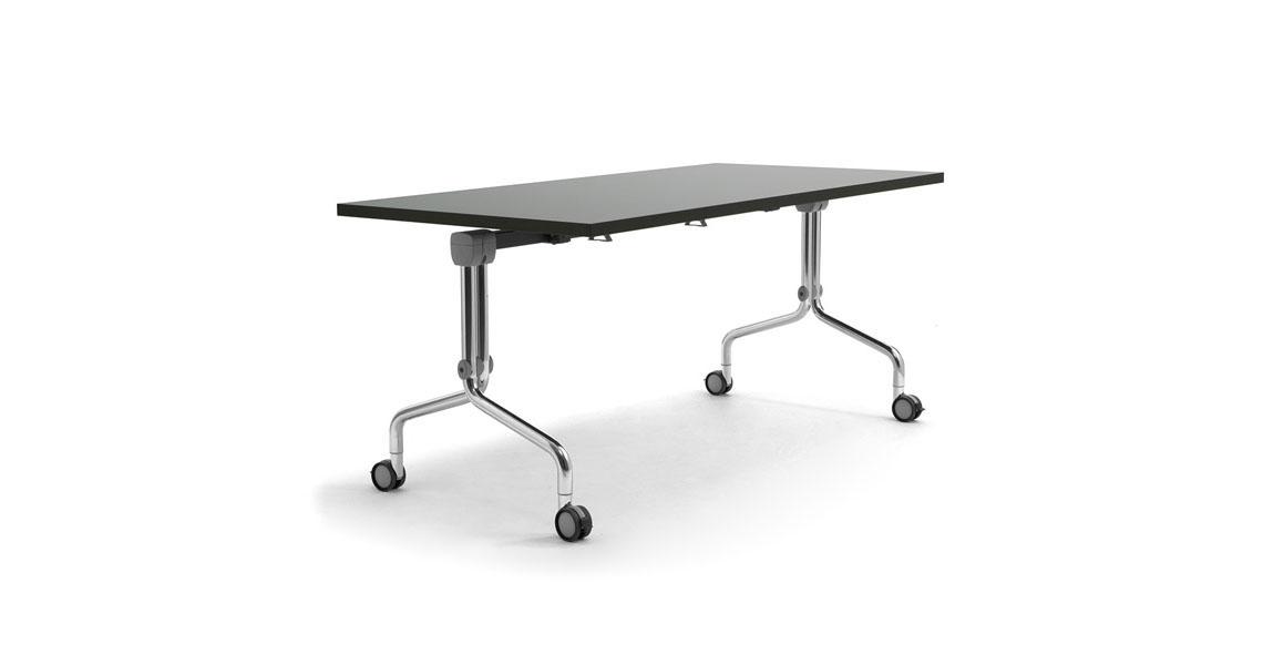 Tavoli accatastabili con ruote e piano ribaltabile - Leyform