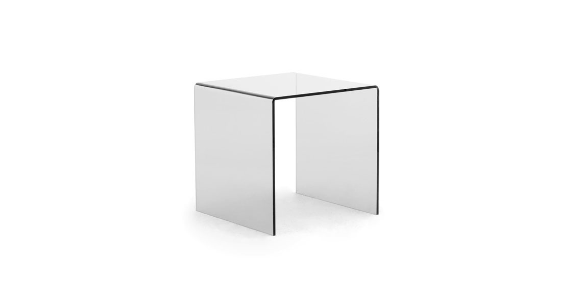 Tavolini portariviste in plexiglass trasparente per sala - Fermatovaglia per tavoli di plastica ...
