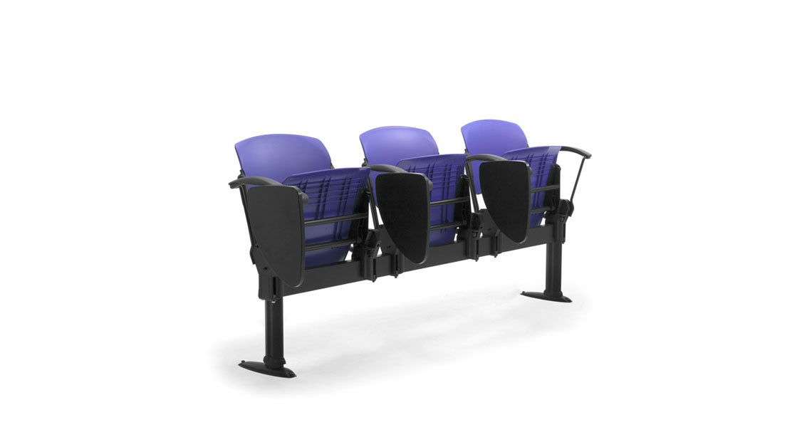 Fantastic Lecture Hall Commercial Bench Seating With Arms Leyform Lamtechconsult Wood Chair Design Ideas Lamtechconsultcom