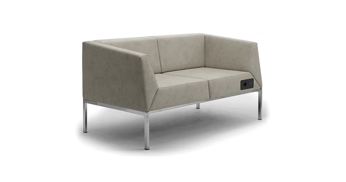 Office Waiting Area Furniture. Modern Design Lounge Sofas W Usb