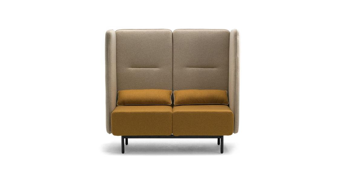 high back lounge sofas for office open space leyform. Black Bedroom Furniture Sets. Home Design Ideas