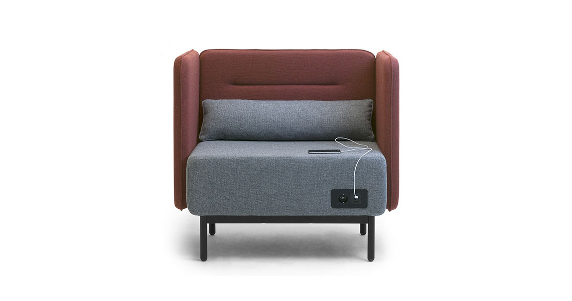 Modular sofas with usb charger for office open space leyform - Phone charging furniture the future in your home ...