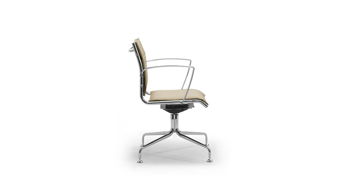 Contemporary leather office chairs high back swivel chairs for