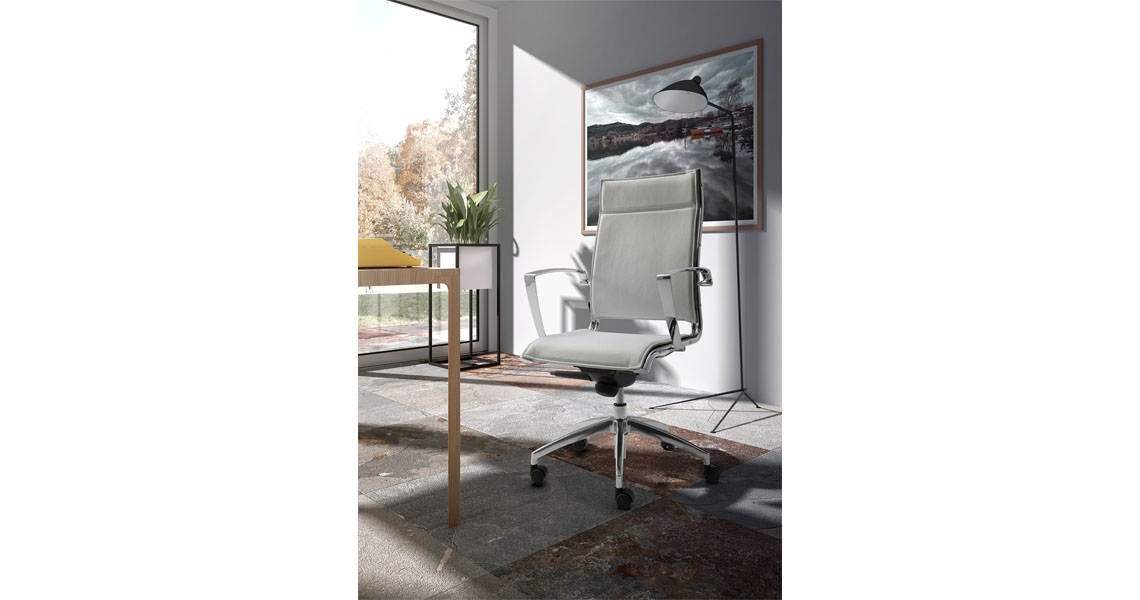 Modern leather executive chair - Contemporary Leather Office Chairs High Back Swivel Chairs For