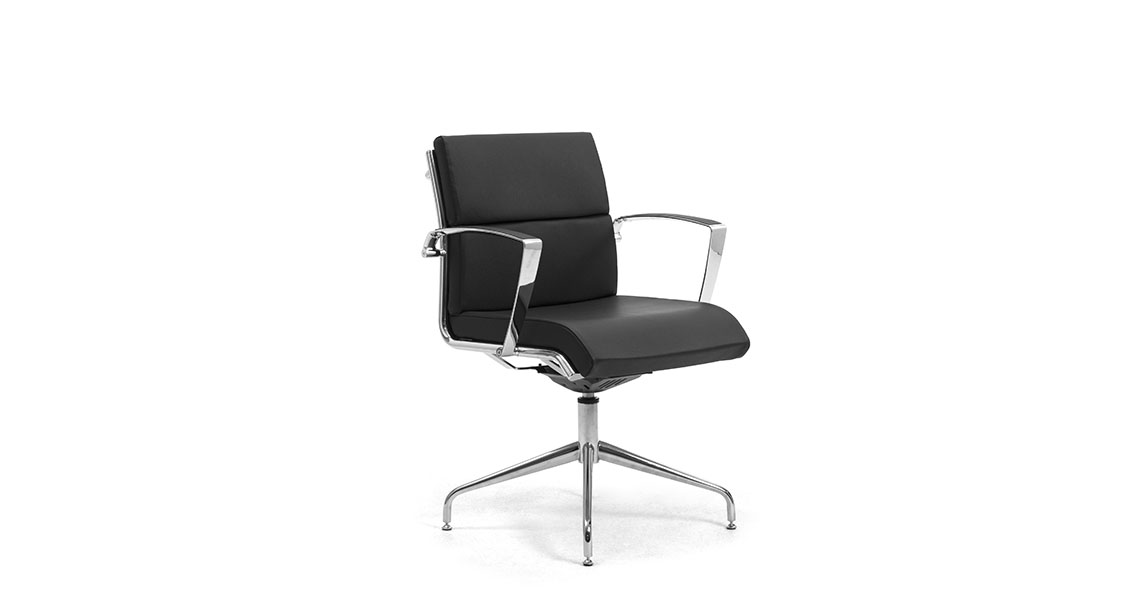 Executive Office And Meeting Room Leather Chairs Chairs With Aluminum Steel
