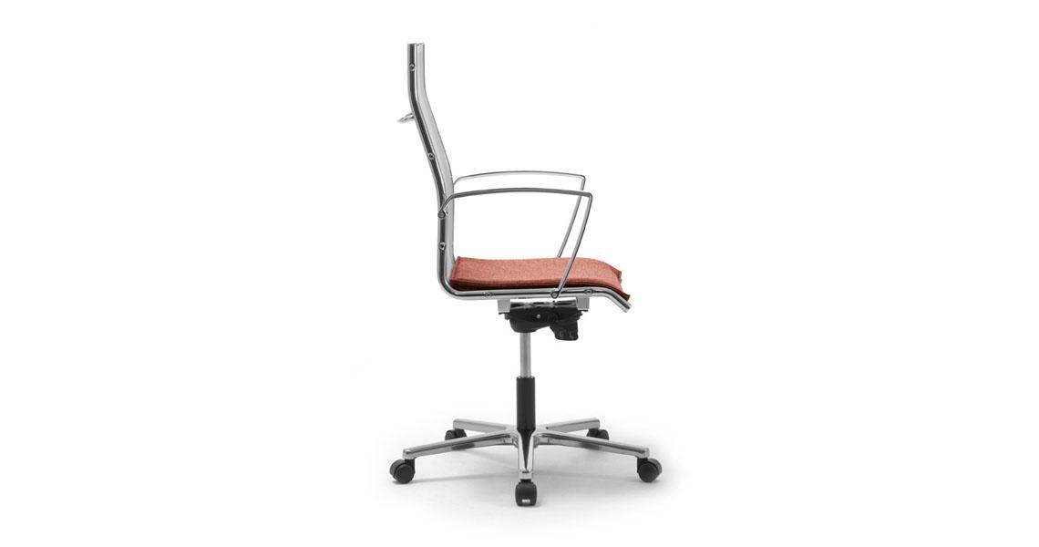 high back mesh armchair for executive offices leyform