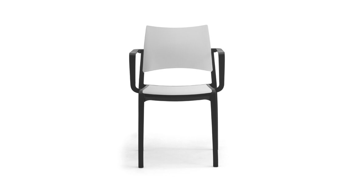 Bon ... Stackable Plastic Chairs W Arms For Contract Staky  ...
